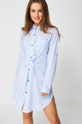 Shirt Dress In Stripes Ex-Branded-Fabulous Bargains Galore