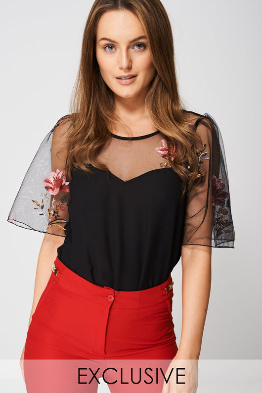 Exclusive Collection Embroidered Bodysuit Ex-Branded-Fabulous Bargains Galore