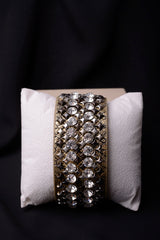 Vintage Inspired Leather Embellish Bracelet