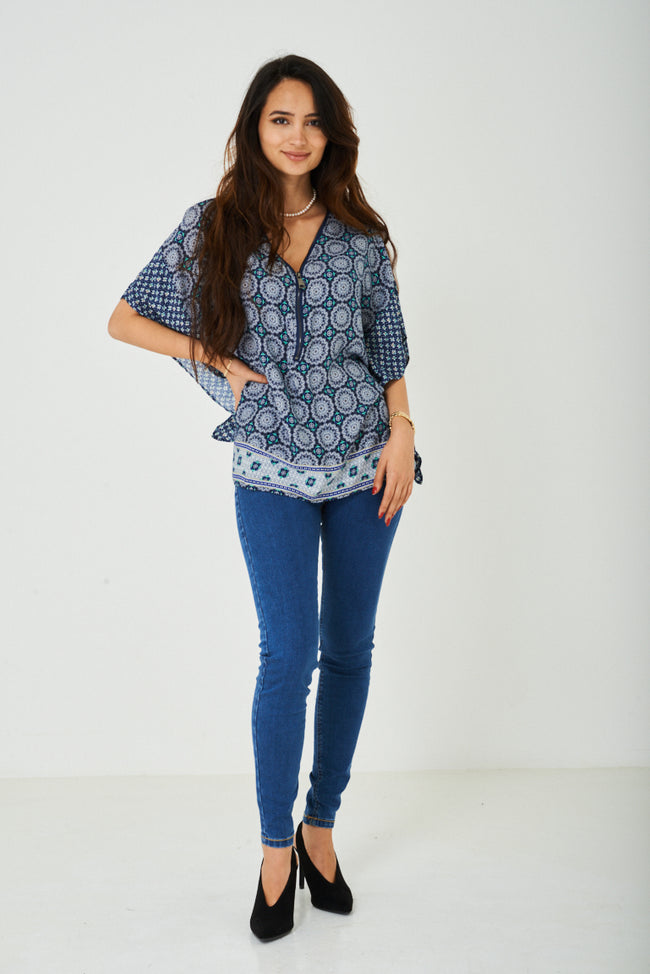Casual Top with Kimono Sleeve-Fabulous Bargains Galore