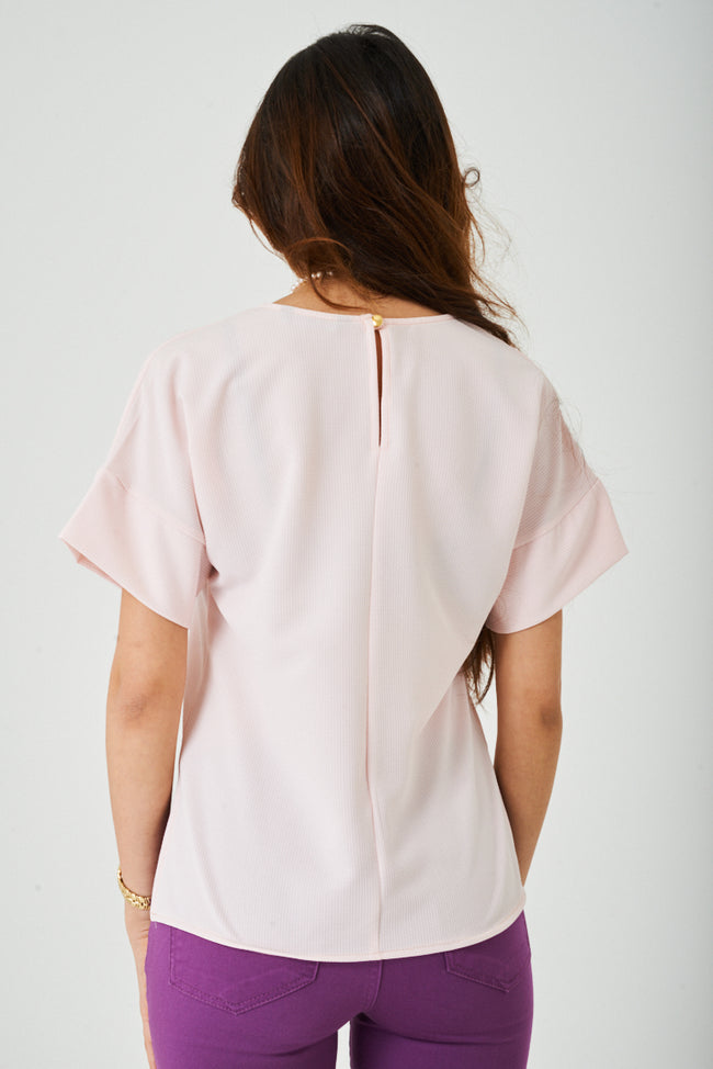 Textured Pink Top-Fabulous Bargains Galore