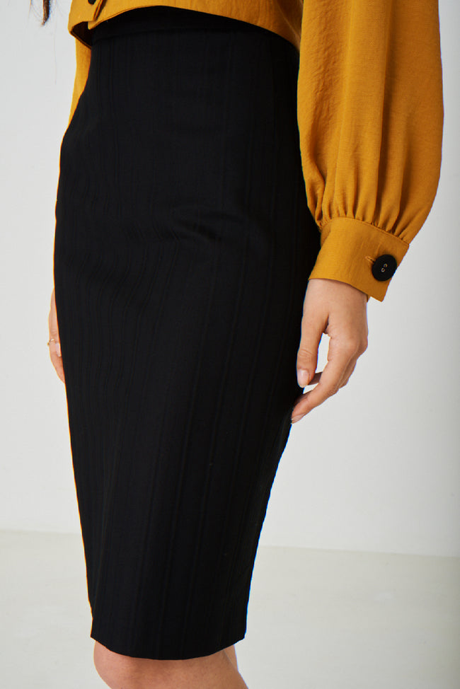 Black Office Pencil Skirt-Fabulous Bargains Galore