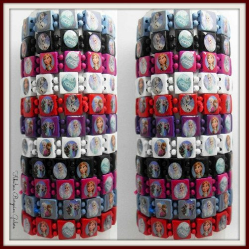Frozen Wooden Elastic Bracelets-Fabulous Bargains Galore