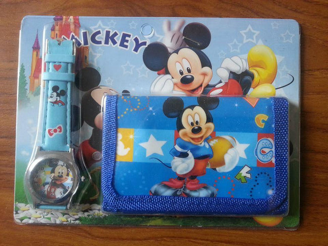 Mickey Mouse Wallet and Wrist Watch Gift Set-Fabulous Bargains Galore