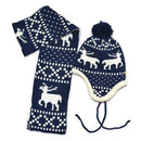 Winter Christmas Reindeer Hat and Scarf Set - Fabulous Bargains Galore