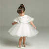 Baby girl christening outfit with cape shawl-Fabulous Bargains Galore