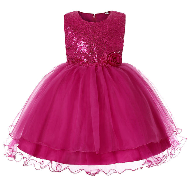 Pink sparkly dress kids up to age 13 years-Fabulous Bargains Galore