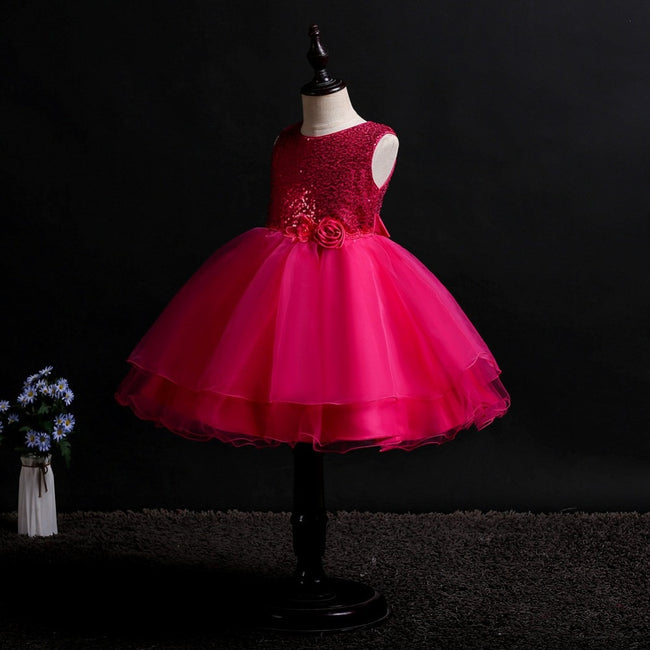 Sequin tulle flower girl dress up to age 13 years-Fabulous Bargains Galore