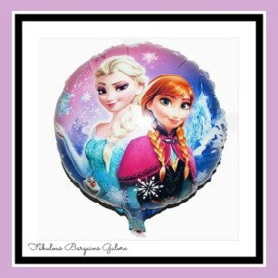 "18"" FROZEN Elsa & Anna Round Foil Helium Balloon-Fabulous Bargains Galore"