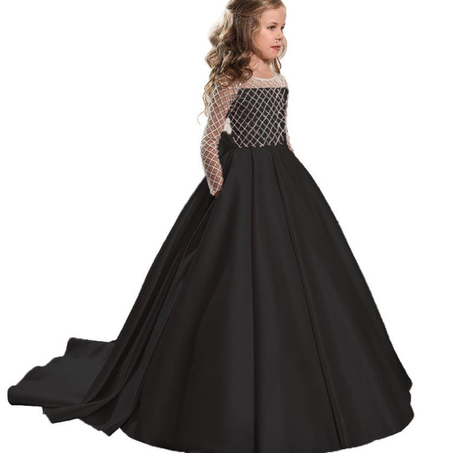 Black flower girl dress-Fabulous Bargains Galore