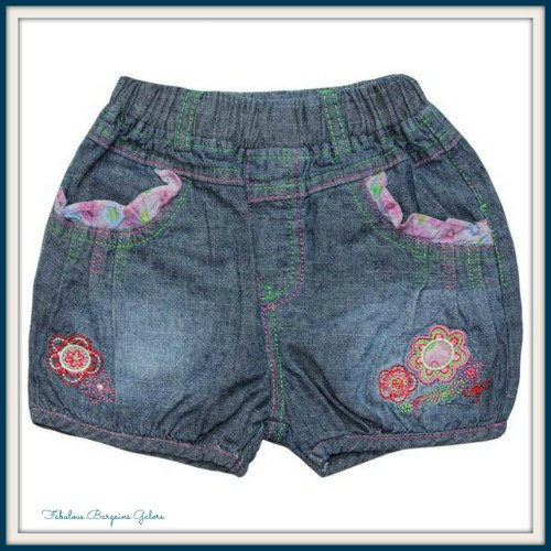 Cute Blue Denim Look Girls Short-Fabulous Bargains Galore