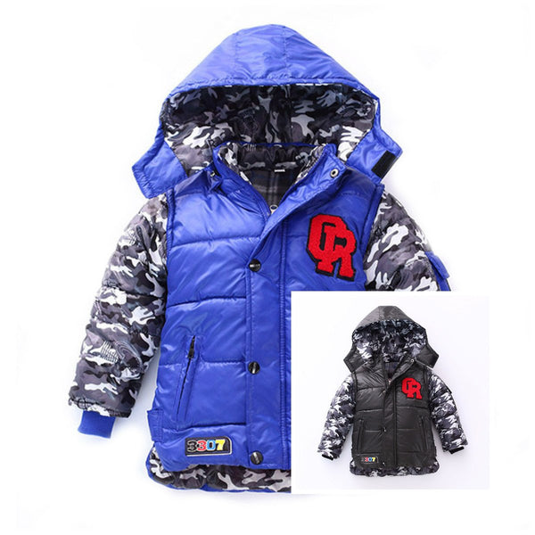 Cute Soft Thick Warm Hooded Boys Winter Coat