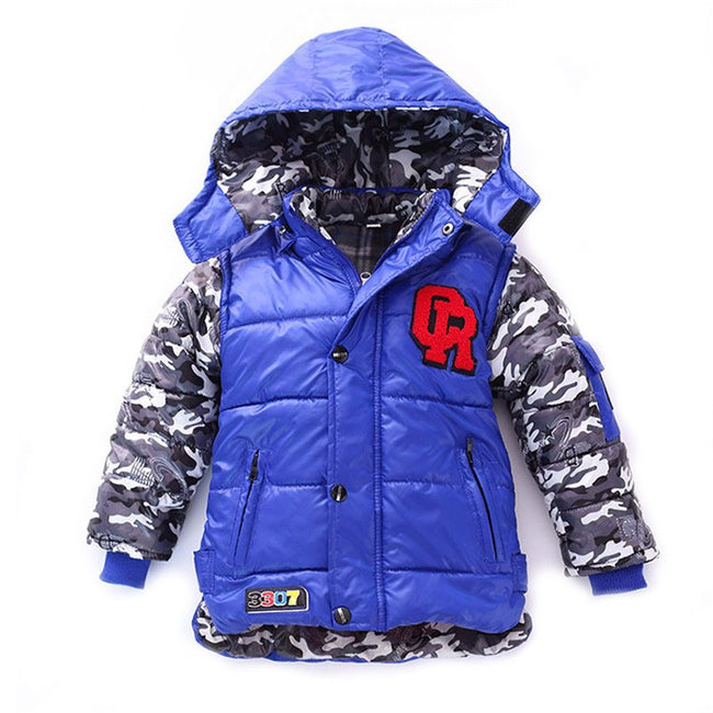 Boys camo coat with hood in black 2-3 years-Fabulous Bargains Galore
