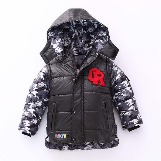 Thick Warm Hooded Boys Winter Coat-Fabulous Bargains Galore