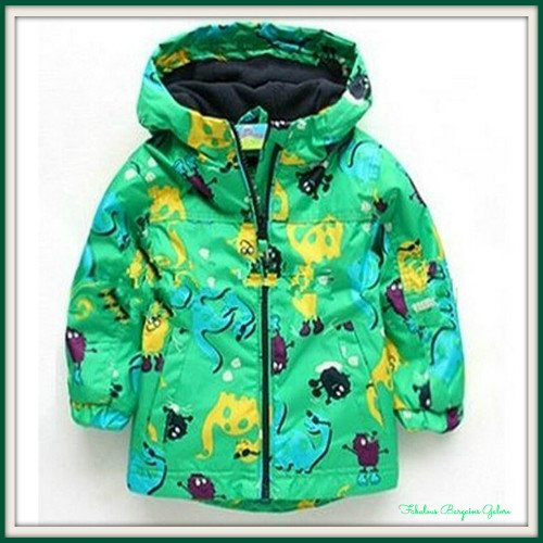 Kids lightweight jacket for boys in green up to 6 years-Fabulous Bargains Galore