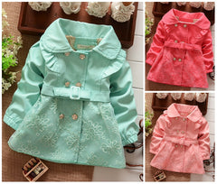 Girls Cute Mint Formal Trench Autumn Coat