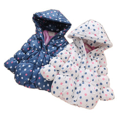 Polka Dots Thick Warm Winter Coat for Girls