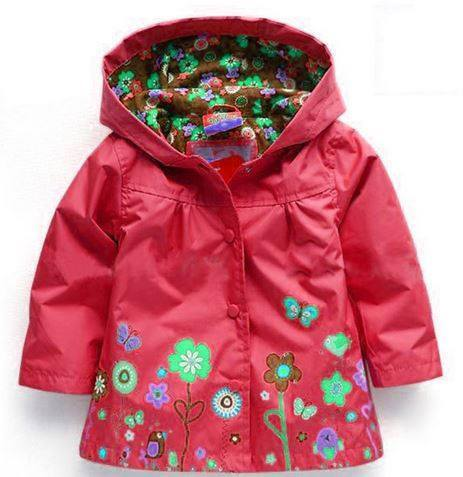 Cute Hooded Light Coat for Girls-Fabulous Bargains Galore
