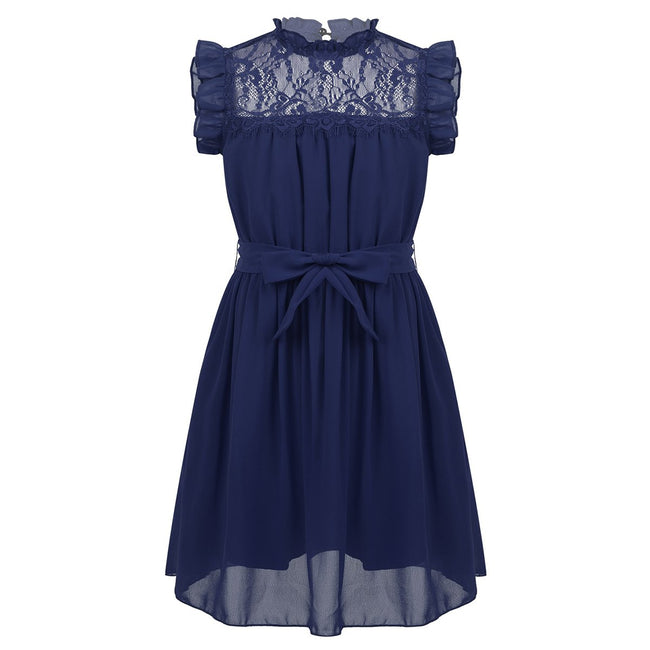 Cute party dresses for girls in navy 4-14 year olds-Fabulous Bargains Galore