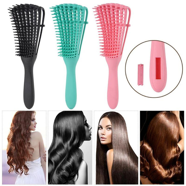 Purple brush for detangling curly hair-Fabulous Bargains Galore