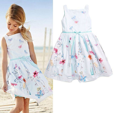 Flower Print Casual Summer Dress for Girls-Fabulous Bargains Galore