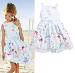 Flower Print  Casual Summer Dress for Girls