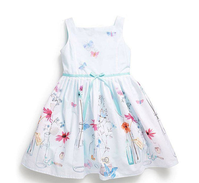 Toddler girl white summer dress up to age 7 years-Fabulous Bargains Galore