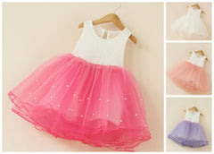 Cute Lace Puffy Occasion Dress for Baby Girls