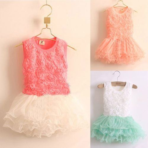 Baby Girl Toddler Occasion Summer Spring Party Tutu Dress