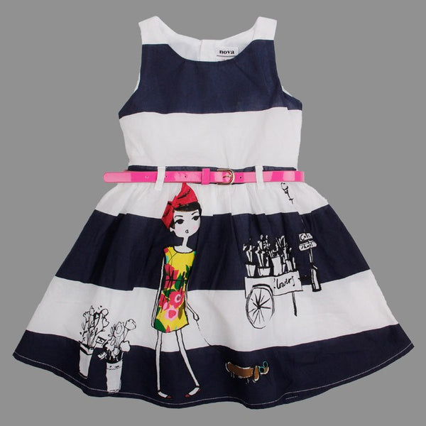 Baby Girl Toddler Puppy Flower Summer Spring Dress