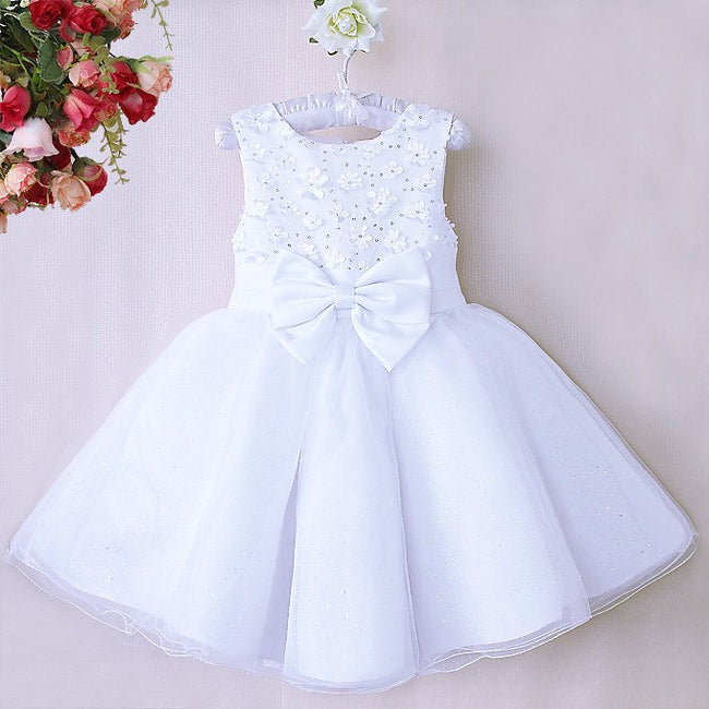 Champagne flower girl dress for age 4-5 years-Fabulous Bargains Galore