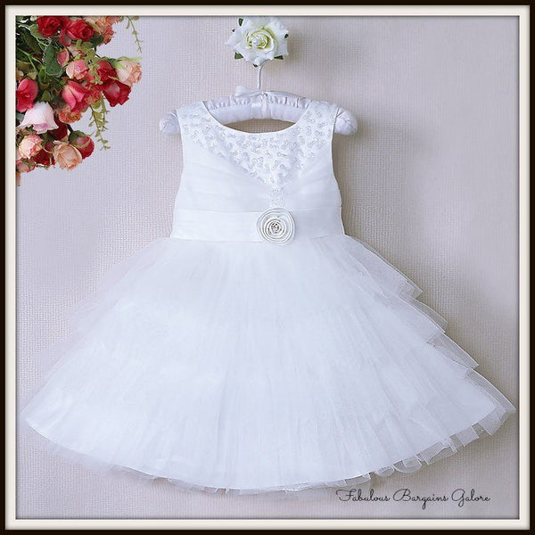 Sale -  Beautiful Girls White Occasion Dress