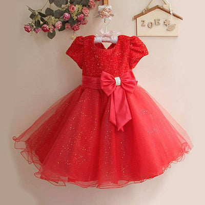 Beautiful Sparkly Tulle Red Party Dress for Girls-Fabulous Bargains Galore
