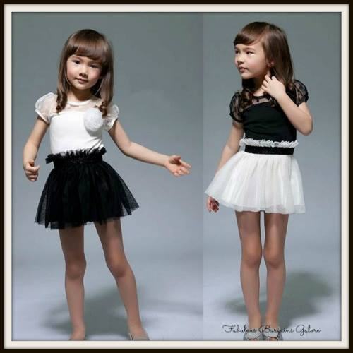 Short Sleeve Tutu Girls Short Dress