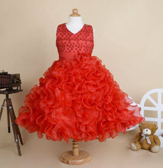 Girls Ball Gown Tulle Sleeveless Princess Occasion Dress