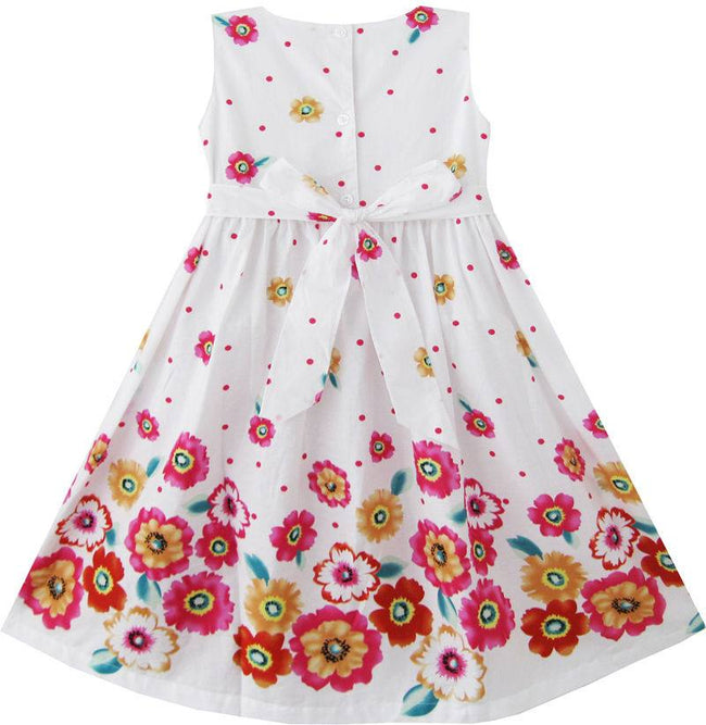 Girls white summer dress for age 4-5 years-Fabulous Bargains Galore