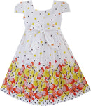 Short Sleeve Spotty Butterfly Girls Summer Dress-Fabulous Bargains Galore