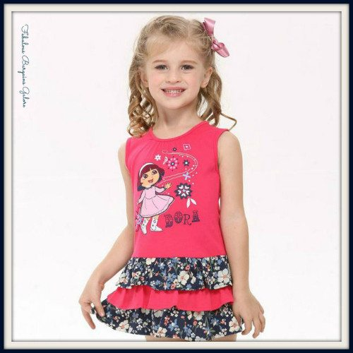 Dora Character Pink Girls Dress-Fabulous Bargains Galore