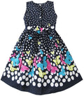 Girls navy summer dress for age 4-5 years-Fabulous Bargains Galore
