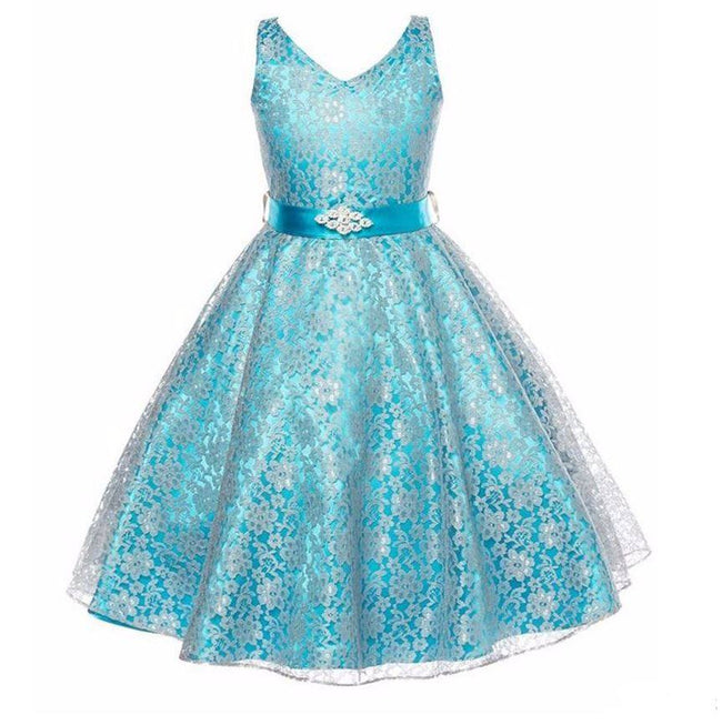 Kids birthday party dress navy up to age 15 years-Fabulous Bargains Galore