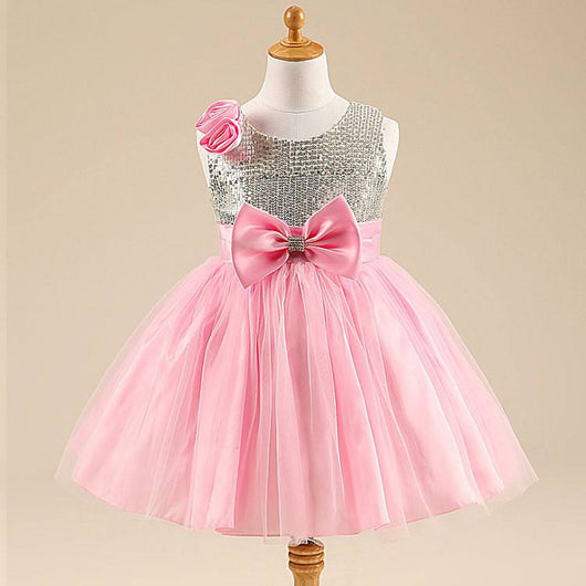 Stunning Sparkly Pink Party Girls Sequin Dress-Fabulous Bargains Galore