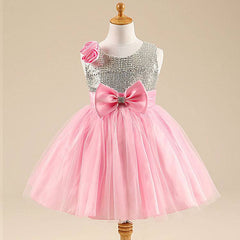 Stunning Sparkly Pink Party Girls Sequin Dress