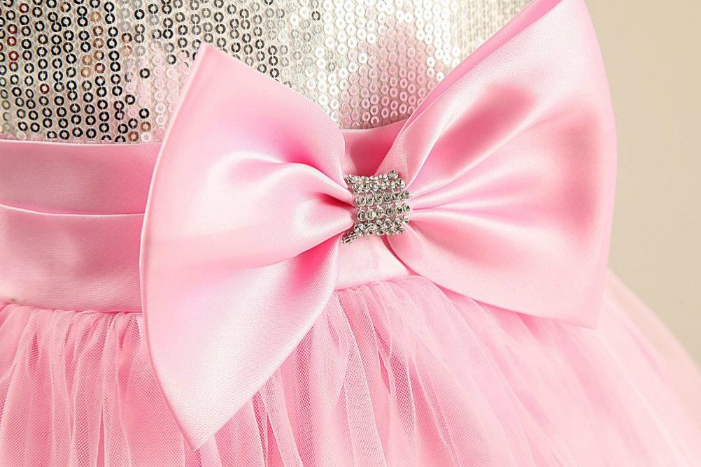 154d0b05b0a07 Pink Sparkly Sequin Tulle Girls Party Dress | Cheap Sequin Dresses ...