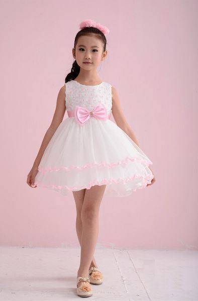 Toddler white party dress for girls age 3-4 years-Fabulous Bargains Galore