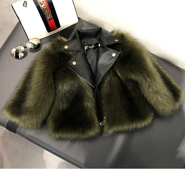 Baby girl faux fur jacket up to age 10 years-Fabulous Bargains Galore