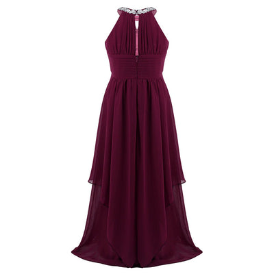 Burgundy flower girl dress 6-16 years-Fabulous Bargains Galore