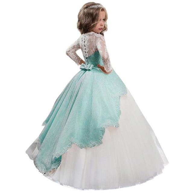 Long sleeve flower girl dresses for weddings up to age 12 years-Fabulous Bargains Galore