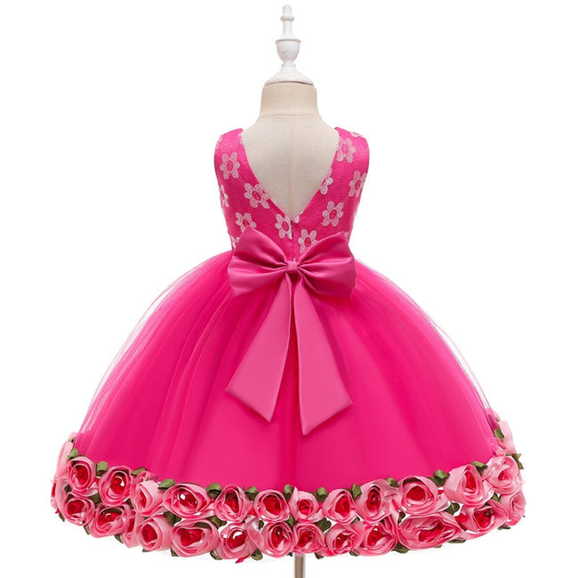 Girls white flower dress up to age 5 years-Fabulous Bargains Galore