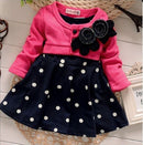 Warm Polka Dot Baby Girl Dress-Fabulous Bargains Galore