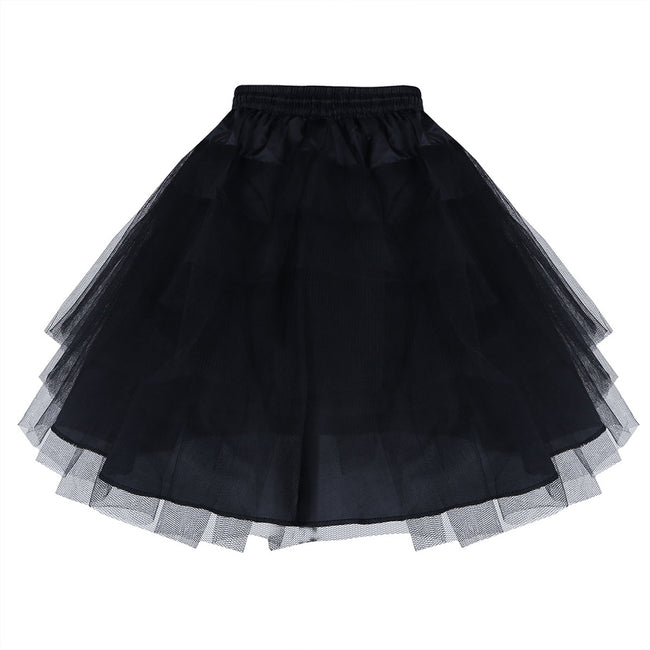 Girls black petticoat with drawstrings-Fabulous Bargains Galore